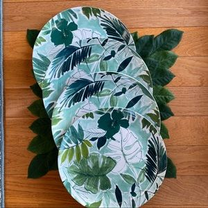 TOMMY BAHAMA Tropical Palm Melamine  Dinner Plates